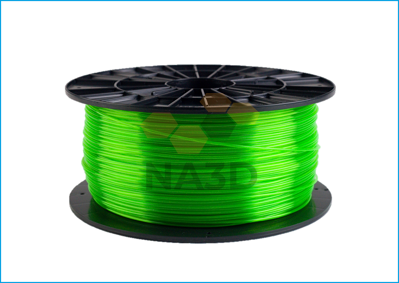 Filament-PM PET-G tisková struna zelená transparentní 1,75 mm 1 kg Filament PM