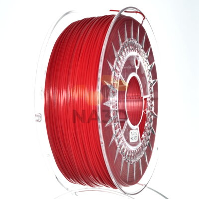 PLA filament 1,75 mm červená hot Devil Design 1 kg